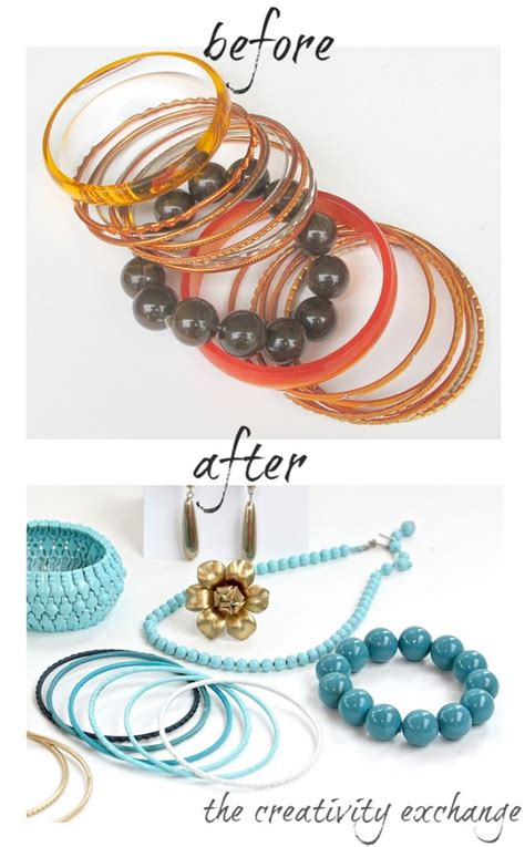spray paint jewelry diy transform junk jewelry with enamel spray paint
