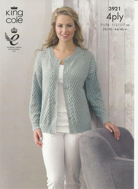 knitting pattern ladies cardigan king cole ladies cardigan and sweater 4ply knitting