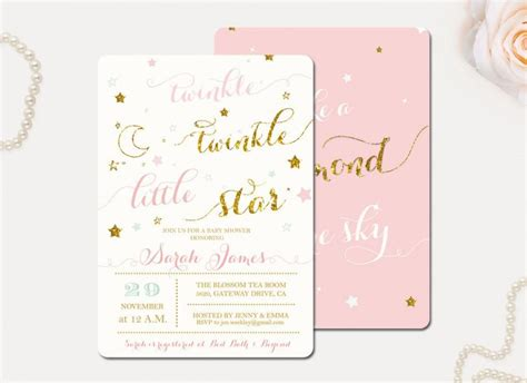 unique baby shower invitations twinkle twinkle baby shower invitations