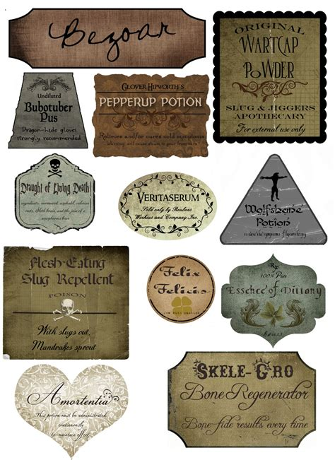 potion label template diy subtle harry potter bookends unwound