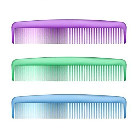 Plastic Comb colorful plastic combs set vector free