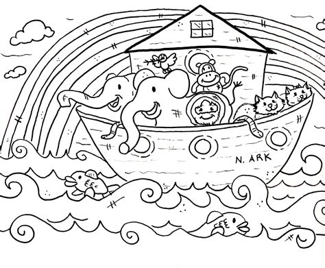 coloring pages for noah s ark free coloring pages of noahs ark animals