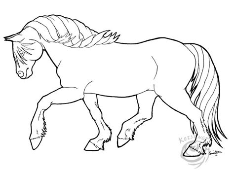 Draft Coloring Pages Fjord Horse Line Art Sketch Coloring Page by Draft Coloring Pages