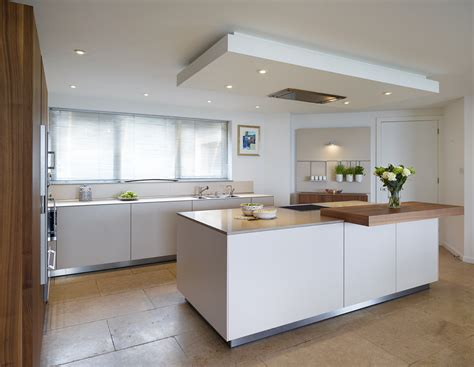 island extractor fans for kitchens the drop ceiling creates a flush fit extractor above the central bulthaup b3 island kitchens