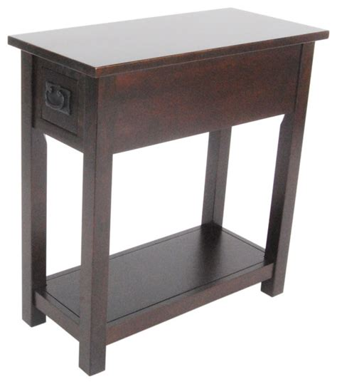 Espresso Side Table Mission Chairside Table Espresso Craftsman Side Tables And End Tables By Bolton Furniture