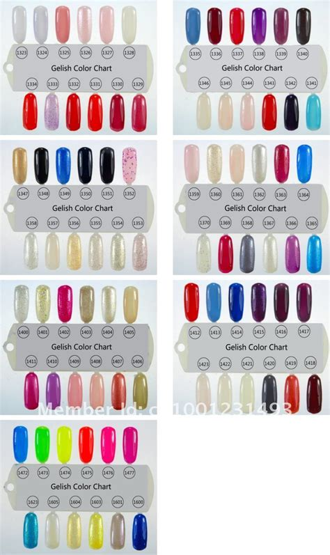 gelish colors gelish color chart 84 colors jpg designs