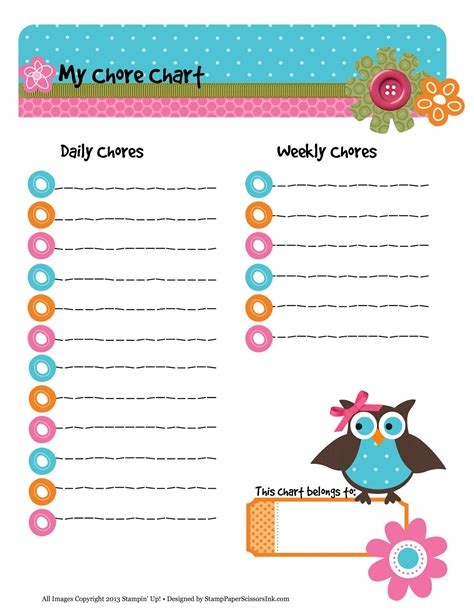 printable owl sticker chart 8 best images of printable owl chore chart printable owl