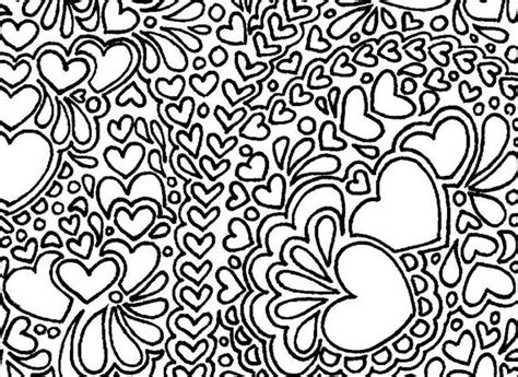 items similar to abstract hearts printable adult coloring