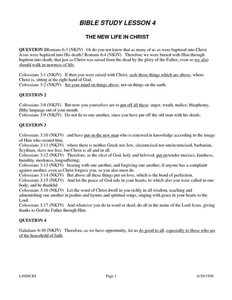 Bible Worksheets For by 6 Best Images Of Printable Youth Bible Worksheets Free