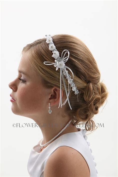 hairstyles with haedband accessories video 17 best images about hadyn s first communion on pinterest