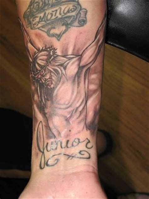jesus tattoo using arm jesus tattoo on arm