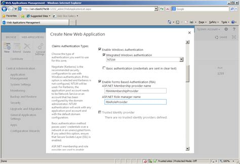 design form web application configuring forms based authentication in sharepoint 2013