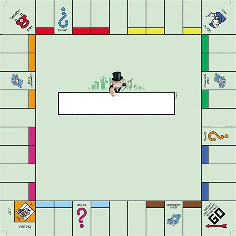 empty monopoly board school pinterest monopoly board