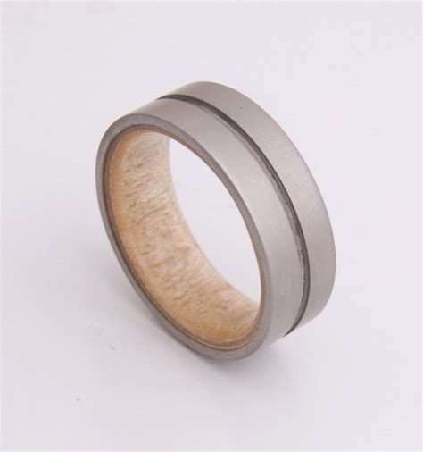 Wedding Rings Made Of Wood by Titanium And Maple Birdeye Mens Wood Rings Wood