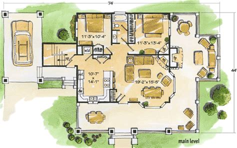cozy cottage floor plans cozy cottage 11523kn architectural designs house plans