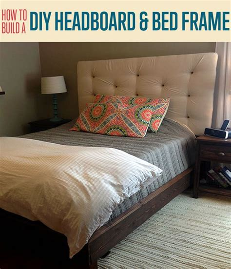 how to build a headboard and bed frame diy upholstered