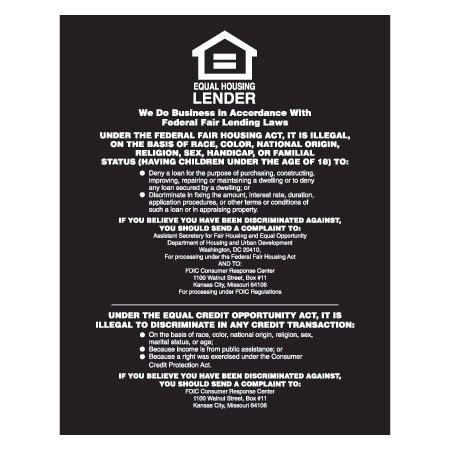 equal housing lender equal housing lender fdic banks black acrylic mfblouin