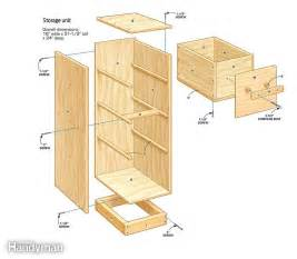 Kitchen Nook Storage Bench Plans by Diy Garage Storage Super Sturdy Drawers The Family Handyman