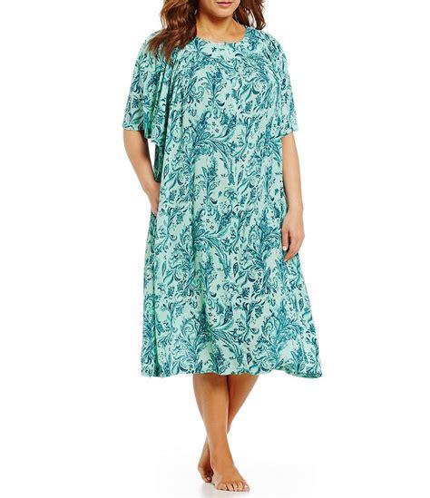 go softly plus paisley patio dress dillards
