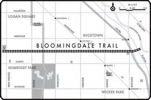 chicago 606 map bloomingdale trail a guide to the 606