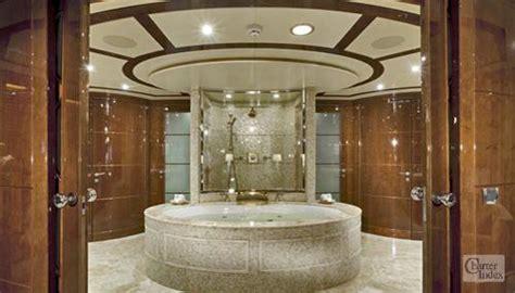 on suite master bathroom tuscan sun luxury crewed charter megayacht yacht nassau bahamas