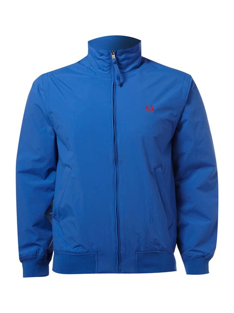 fred perry sailing jacket in blue for lyst