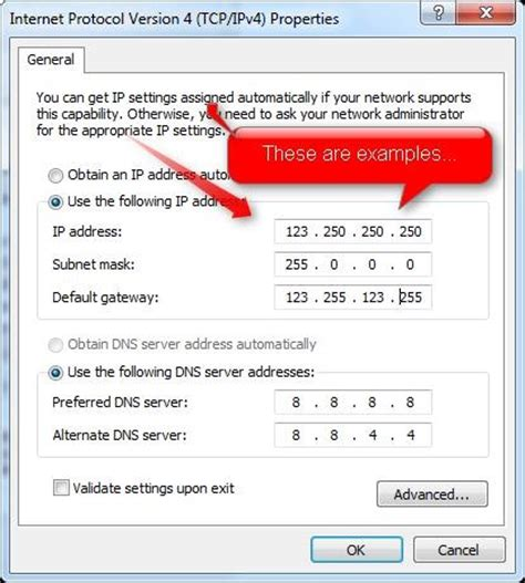 how many place settings how to assign a static ip address in windows 7 171 wire