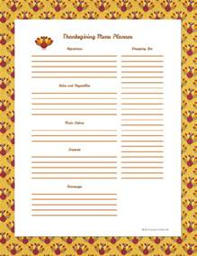 thanksgiving menu planner template organize your menu planner s crafty