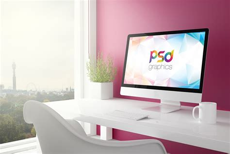 minimalist imac desk decosee com minimalistic imac mockup psd download download psd