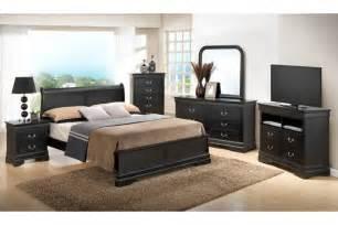 Bedroom sets dawson black queen size platform look bedroom set