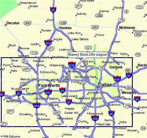 map of dallas area dallas airport map images