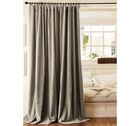 curtain drape two pottery barn velvet drapes curtains panels drapery