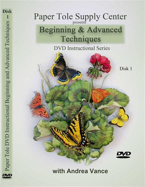 Decoupage Supplies Australia - learn beginning and advanced paper tole techniques dvd 1