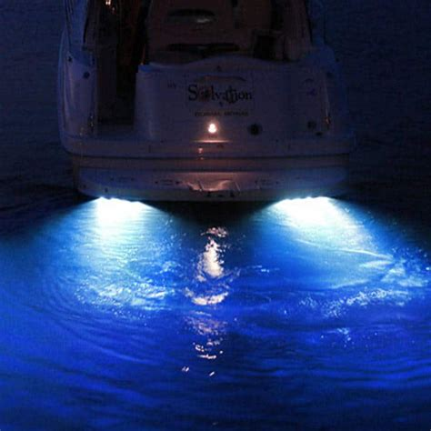 red and white boat lights led underwater lights hurley marine