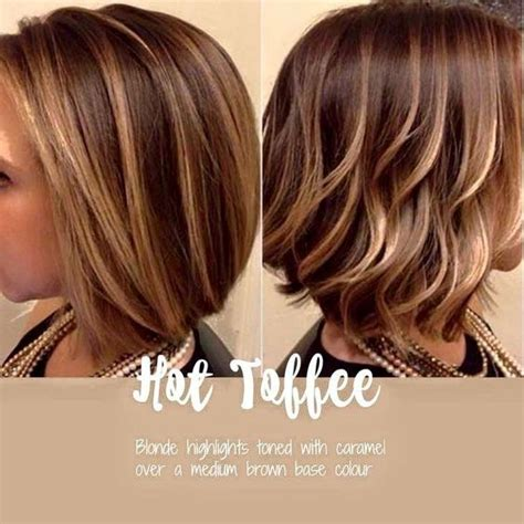 hairstyles with blonde and caramel highlights hot toffee blonde and caramel highlights over brown base
