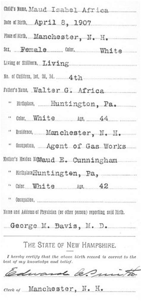 Nh Birth Records Most Recent Genealogy Records For United States