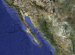 where is the gulf of california located on a map gulf of california pangas cruise mission blue