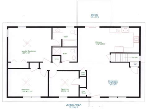 Ranch House Floor Plans Unique Open Floor Plans Easy To Ranch House Plans Open Floor Plan