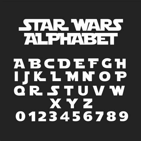 sta lettere wars wars alphabet svg de wars