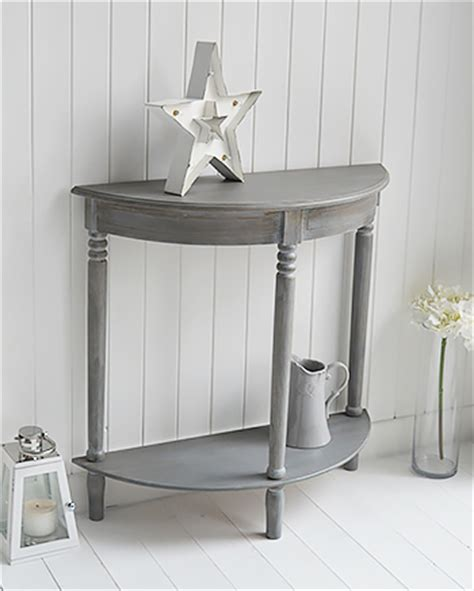 white half moon table colonial furniture range in grey half moon