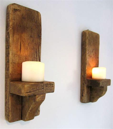 Rustic Wall Sconces Rustic Wall Sconces Rustic Wall Decor Wall Sconce Wooden Sconce Wooden Candle Three Panel Pine