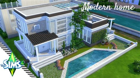 the sims 4 house building modern spring speed build the sims 4 speed build modern one bedroom house plan