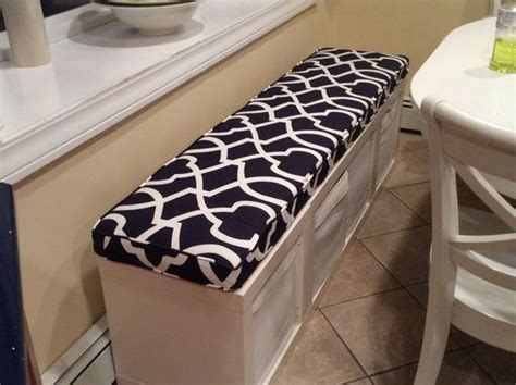 handmade ikea kallax cushion bench cushion  hearth