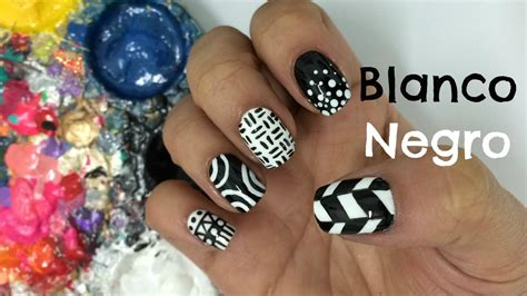 imagenes uñas decoradas en blanco y negro decoracion de u 241 as blanco y negro black and white nail