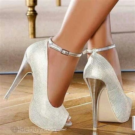 white silver high heels white with silver heels shoes heels