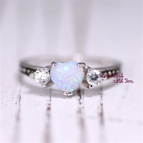 Wedding Rings With Opal by White Opal Ring Silver Lab Opal Ring Opal Wedding Band