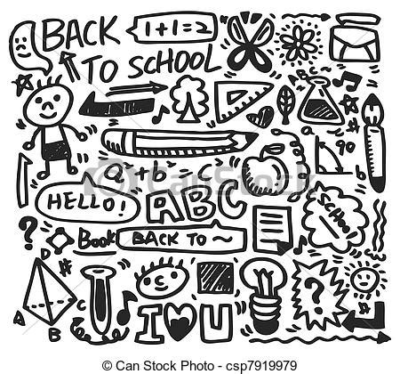 doodle school login eps vectors of doodle school csp7919979 search clip