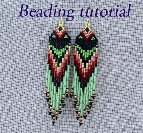 learn how to bead american earrings beading pattern american by beadingtutorials