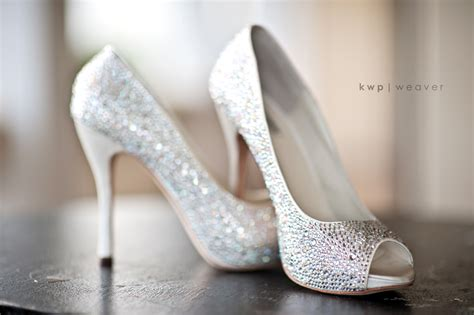 Wedding Heels by Sparkly Peep Toe Wedding Heels Wedding Shoes