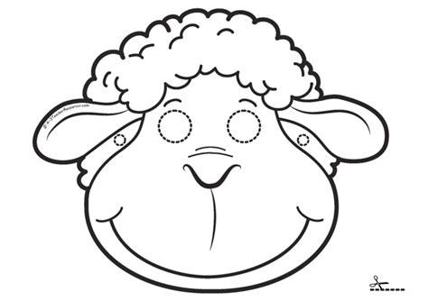printable sheep face mask template image gallery lamb mask